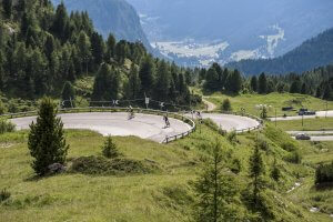 Dolomites guided road cycling tour