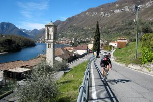 Self guided road cycling Tour Lake Como